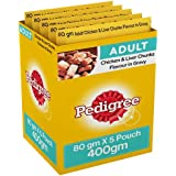 Pedigree Gravy Adult Dog Food, Chicken And Liver Chunks, 80 G Pouch (Pack Of 5)