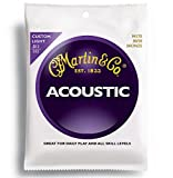 Martin Gitarrensaiten für Akustikgitarren (80/20, Bronzeumwicklung, Stärke Custom / Light 0.011 - 0.052)