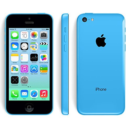 Apple iPhone 5C, 4G, Smartphone, iOS 7, 4Zoll (10cm) IPS-Display, 8MP Kamera, A1532, Dual-Core 1,3GHz, 8GB ROM, 1GB RAM, Siri blau