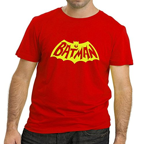 Heyuze Designer Printed Premium Quality 100% Cotton Half Sleeve Male / Men Round Neck Red T Shirt with Superhero Design
