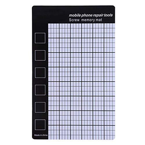 Universal Magnetische Schraubenmatte Telefon Schrauben Speichermatte Memory Chart Working Pad Handy Tablets Reparatur Werkzeuge 145x90mm -