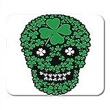 Gaming Mouse Pad Green Day Irish Skull Clover Vintage Angel Black Bone Office Antideslizante Respaldo De Goma Mousepad Alfombrilla De Ratón