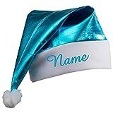 Bonnet de Père Noël avec/sans personnalisable brodé Bonnet de Père Noël, Zipfel Bonnet, plusieurs couleurs, Türkis