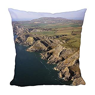 Media Storehouse 12x12 Cushion of England - Aerial view, Cliffs at Fall Bay, south (10515175)