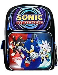 "Sonic The Hedgehog Blue 14"" Backpack Boys School Bag- 7YRS-10YRS"