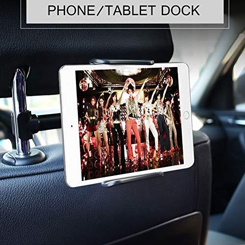 Universale Autositz Tablet/Handy Halterung, Yanhuanchan Auto Rücksitz Kopfstütze Halterung Einstellbare Halter Für Apple iPad Mini/Air, Samsung,Huawei und andere 6-11 Zoll Tablets(Schwarz)