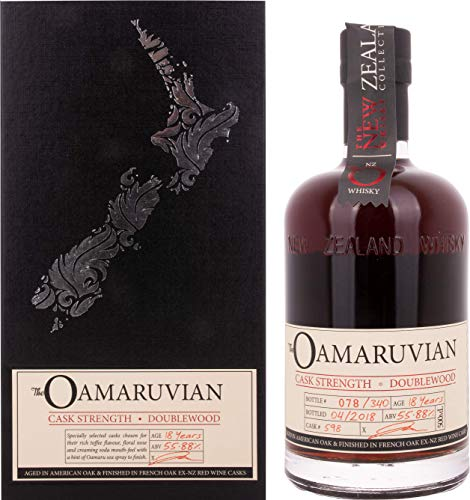 The New Zealand Whisky Collection THE OAMARUVIAN 18 Years Old Cask Strength Whisky, (1 x l) - Muskatnuss Kirsche