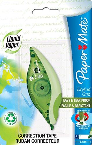 paper-mate-s0846031-dry-line-grip-nastro-correttore-riciclato-verde