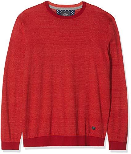 s.Oliver Big Size Herren 15.901.61.6246 Pullover, Rot (Poppy Seed 36g0), XXX-Large (Herstellergröße: 3XL)