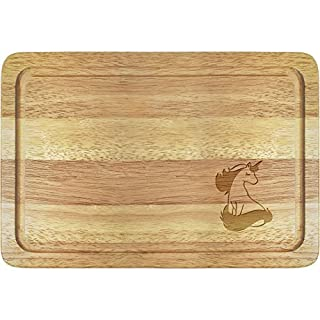 Azeeda 'Gorgeous Unicorn' Wooden Chopping Board (WB00011466)