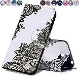 Huihai Huawei Y5 II/Y5 2 Hülle, Flip Case Cover Exquisite Malerei [Geblümt] PU Leder Tasche Brieftasche Handyhülle, mit Standfunktion Schutzhülle für Huawei Y5 II/Y5 2 CUN-L21 (5.0 Zoll)