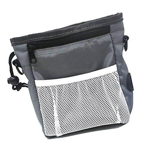 (Tuipong Dog Treat Bag, Pet Treat Pouch, verstellbarer Gürtel mit Dog Treat Pouch Eingebauter Poop Bag Dispenser 3 Trageweise, grau)