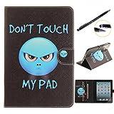 Lotuslnn iPad mini Hülle, Slim Fit iPad mini 1 2 3 Hülle Schutzhülle Etui-Slim Fit Foilo Schutzhülle Tasche Etui Case Cover mit Standfunktion für iPad mini 3 / 2 / 1(Don't Touch My Ipad)