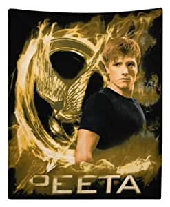 """Perfect Arts Hot Movie The Hunger Games Peeta Mellark Unique Custom Zippered Pillow Cases """"18x18"""" Inches (Two sides)"""