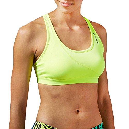 Reebok Speedwick - soutien-gorge de sport femme - running gym fitness sans manches Jaune