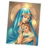 Homyl Madonna 5D Diamante DIY Ricamo Punto Croce Pittura Quadri Panno Ricamato Con Strass