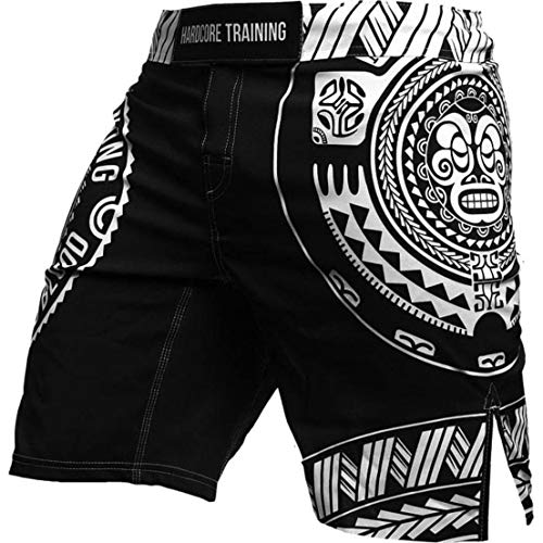 Hardcore Training Short For Men Ta Moko Black - Cage