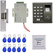 Sharplace 125khz RFID Tarjeta Huella Dactilar Kit de Control de Puerta Acceso con 10 Tarjetas Clave
