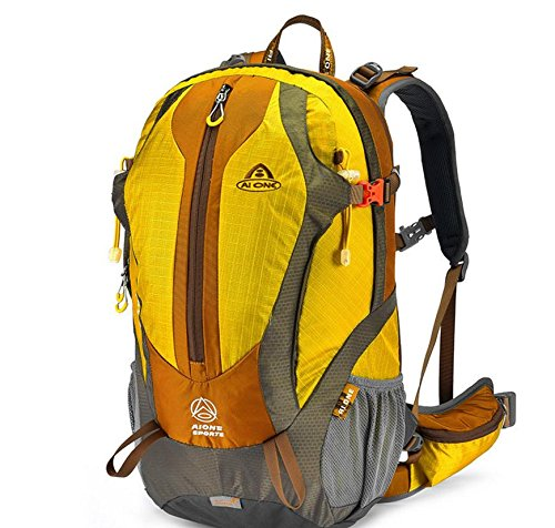 Sport all'aperto la borsa, zaino impermeabile moda 35L , dark green Yellow