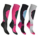 4er pack Bonjour Damen High Performance Skisocken ( Eur 37 - 42 )