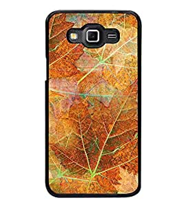 Fuson Premium 2D Back Case Cover Leaf pattern With blue Background Degined For Samsung Galaxy Grand Max G720