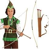 Flecha y arco para niños Set Robin Hood carcaj chicos Armas de indio aljaba arquero Complemento para disfraz