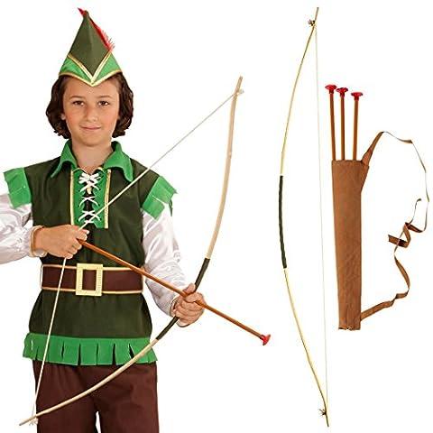 Arc et flèches pour enfant Kit Robin des bois arc d'enfant avec carquois arc et flèches d'Indien tir à l'arc accessoires accessoires de costume Robin