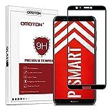 OMOTON Huawei P Smart Protection D'écran Verre Trempé, Film Protecteur [Couverture Complète] [Dureté 9H] sans Bulles Noir