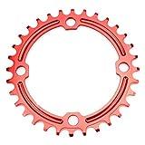 CYSKY Schmal Breit Kettenblatt 104BCD 32Z Bike Single Kettenblatt für 91011Speed Road Bike Mountain Bike BMX (Rot)