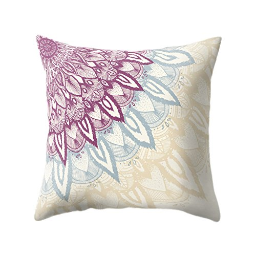 Chytaii. Fundas De Cojines Sofá Throw Pillow Casecon Flor de Mandala Fundas...