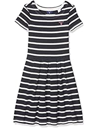 GANT Mädchen Kleid O. Breton Stripe Ss Dress