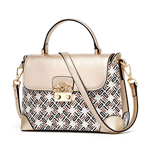 4095e89bcc353 HWX Handtaschen für Frauen Umhängetasche Mode Umhängetasche  Diebstahlsicherer Umhängetasche - Classic Collection (Farbe   Gold