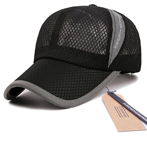 GADIEMENSS Mesh Speed Drying Breathable Running Cap Only 2.3 Ounces (B