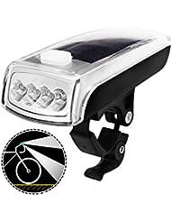 Lumière ultra-lumineuse de bicyclette avec les batteries rechargeables et solaires alimentées par énergie, phare avant de vélo de MAXIN LED imperméable 750mAH/1000 Lumens mains-libres Lumières de vélo