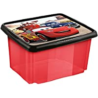 Keeeper Cars 45 Litre Storage Container Box with Turning/Stacking 55.5 x 40 x 30 cm – Anna (Transparent Red) preiswert