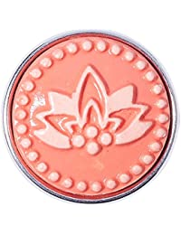 Noosa Chunk RED WATERLILY coral- ceramic