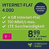 mobilcom-debitel Internet-Flat 4.000 im Telekom-Netz (8,99 EUR monatlich, 24 Monate Laufzeit, 4 GB Internet-Flat, LTE mit max. 150 MBit/s, EU-Roaming-Flat, Triple-Sim-Karten)