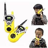 Malloom 2Pcs Walkie Talkie para niños Juguetes electrónicos portátiles radio de dos vías...