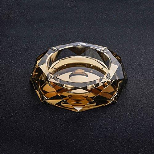 Aschenbecher Luxus-atmosphärischer Kristallglas goldener Da Vinci-Octagon-kreativer Persönlichkeits-Trend-Ausgangs Wohnzimmer-Couchtisch-Hotel-Verein Geschäfts-Geschenke CHENGYI (größe : 25*25*4.5cm)