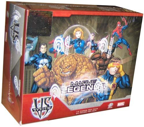 Marvel VS System Trading Card Game Marvel Legends Booster Box 24 Packs (Vs-system-box)