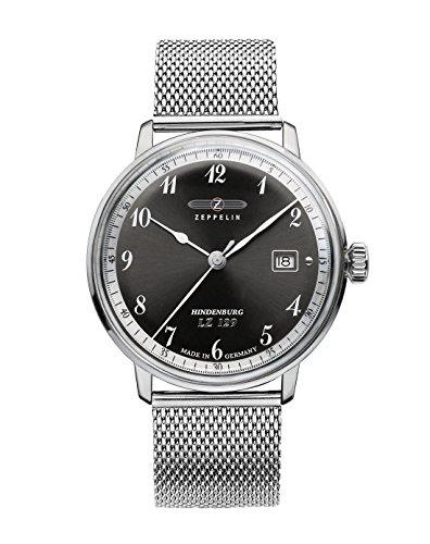 Zeppelin Watches Men's Quartz Watch 7046M-2 7046M-2 with Metal Strap