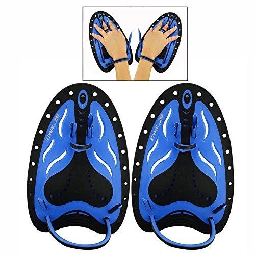 Cisixin Grado de silicona suave mano palmeada del agua el color Natación profesional de la natación de la natación