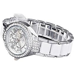 Women Wrist Watch - Geneva Women Watches Women Rhinestone Crystal Diamond Quartz Watch Wrist Watch silver