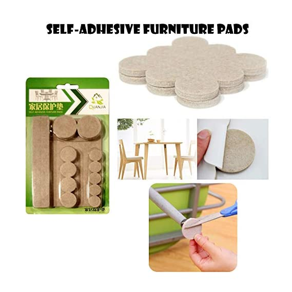 Party Propz Self Stick 64 Noise Dampening Rubber Bumper Furniture Felt Pads for Hardwood Floors (Beige)