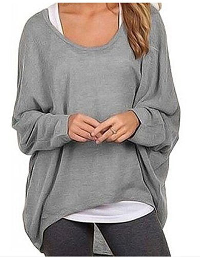 Preiswert Women s Casual Oversized Baggy Off-Shoulder Shirts ... 290671072b