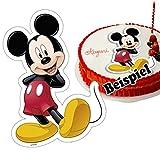 Generique - Essbarer Tortenaufleger Mickey 18,4 x 25,7 cm