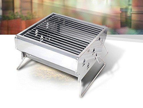 Ausgedehnter im Freienkohlegrill-Ofen kann justiert werden Wind-Edelstahlgrill-Grillhauptfalteverdickungofen , 32*29.5*19