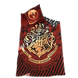 Juego de funda de edredón–funda de edredón Reversible 140x 200cm + funda de almohada de 63x 63cm–microfibra–Harry Potter