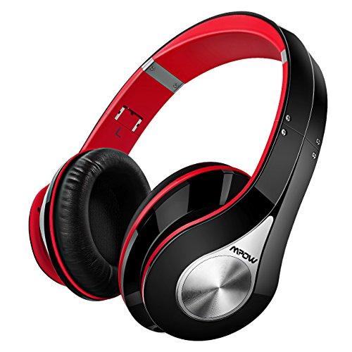 Auriculares Bluetooth Inalámbricos, Mpow M3 Auricular, Cascos Bluetooth Plegable con Micrófono Manos Libres Headphone Ligero y Hi-Fi Sonido Estéreo Orejeras de Memoria Suave, 20 Horas de Reproducción para PC, TV, Tablet, Móviles Android o iPhone 7 6 (Plus) , Rojo