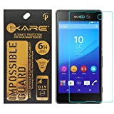 iKare Tempered Glass Front Back Screen Protector for Sony Xperia M5 E5603 (Impossible Glass, REUSABLE, ULTRA CLEAR, REAL SHOCK PROOF, UNBREAKABLE) Amazon